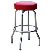 Richardson Metal Bar Counter Stool with Upholstered Grade 4 Vinyl Swivel Seat 24''