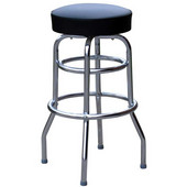 Richardson 30'' 50's Retro Revolving Backless Counter Stool in Grade 10 Vinyl Finishes