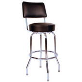Richardson 24'' 50's Retro Revolving Counter Stool in Grade 10 Vinyl Finishes