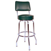 Richardson 24'' 50's Retro Revolving Counter Stool in Grade 3 Vinyl Finishes
