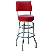 Richardson 30'' 1950's Style Revolving Counter Stool in Grade 4 Vinyl Finishes