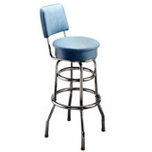 Richardson 30'' 50's Retro Counter Stool with Revolving Seat in Grade 10 Vinyl Finishes