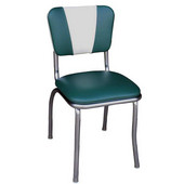Richardson Retro Diner Chair with 1'' Thick Upholstered Seat & V Pattern Backrest, Grade 10