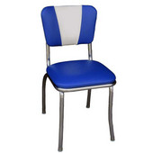 Richardson Retro Diner Chair with 1'' Thick Upholstered Seat & V Pattern Backrest, Grade 3