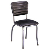 Richardson Retro Chrome Diner Chair with 1'' Thick Upholstered Seat, Grade 3
