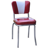 Richardson Retro Diner Chair with 2'' Thick Upholstered Seat & V Pattern Backrest, Grade 3