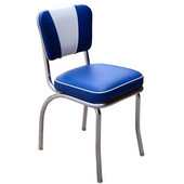 Richardson Retro Diner Chair with 2'' Thick Upholstered Seat & V Pattern Backrest, Grade 4