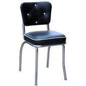 Richardson Retro Diner Chair with 2'' Thick Upholstered Seat & Buttons, Grade 10