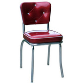 Richardson Retro Diner Chair with 2'' Thick Upholstered Seat & Buttons, Grade 3