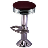 Richardson Retro Kitchen Counter Stool with Tubular Steel Frame and Swivel Seat in Grade 10 Vinyl Finishes