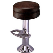 Richardson 50's Style Counter Stool with Chrome Plated Steel Column and Swivel Seat in Grade 10 Vinyl Finishes