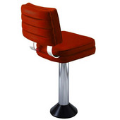 Richardson 50's Retro Kitchen Counter Stool with Square Swivel Seat in Grade 10 Vinyl Finishes