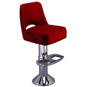 Richardson 50's Retro Kitchen Counter Stool with Deluxe Foam-Filled Swivel Seat in Grade 4 Vinyl Finishes