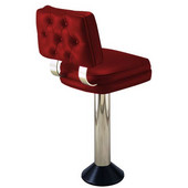 Richardson 50's Style Swivel Counter Stool with Chrome Column and Grade 4 Vinyl Finishes