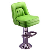 Richardson 50's Style Swivel Counter Stool with Cushioned Back in Grade 3 Vinyl Finishes