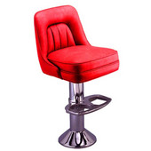 Richardson 50's Style Swivel Counter Stool with Cushioned Back in Grade 4 Vinyl Finishes