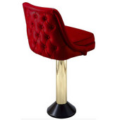 Richardson 50's Style Swivel Counter Stool with Decorative Cushioned Back in Grade 4 Vinyl Finishes