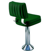 Richardson 50's Style Counter Stool with Steel Column and Hand-Upholstered Vinyl Seat in Grade 3 Finishes