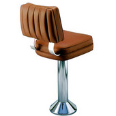 Richardson 50's Style Counter Stool with Steel Column and Hand-Upholstered Vinyl Seat in Grade 4 Finishes