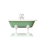 72'' Concordia Antique Inspired Cast Iron Double Ended Bathtub Package, Arsenic Green
