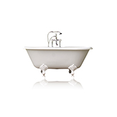 60'' Concordia White Antique Inspired Cast Iron Porcelain Clawfoot Bathtub Package