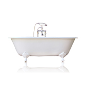 66'' Concordia White Antique Inspired Cast Iron Porcelain Clawfoot Bathtub Package