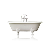72'' Concordia Antique Inspired Cast Iron Double Ended Bathtub Package, White