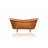 Large 70' Double Slipper Antique Inspired Freestanding Natural Copper Clawfoot Bathtub