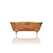66'' Large Antique Inspired Freestanding Natural Copper Double Ended Clawfoot Bathtub