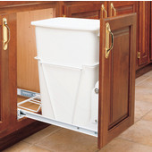 Rev-A-Shelf Single Bin With 3/4 or Full Extension Slides, 8.75 Gallons (35 Quarts), Polymer, Min. Cabinet Opening: 10-3/4''  Wide