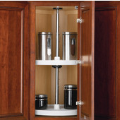 Rev-A-Shelf ''Value Line'' Polymer Lazy Susan With 2 Trays, White or Almond, 18'' - 24'' Diameters Available