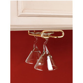 Rev-A-Shelf Wine Glass Stemware Racks for Shelf or Under Cabinet Mounting, Brass, 11'' - 18'' Available Depths