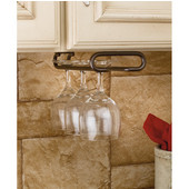 Rev-A-Shelf Wine Glass Stemware Racks for Shelf or Under Cabinet Mounting, Oil Rubbed Bronze, 11'' - 18'' Available Depths