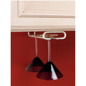 Rev-A-Shelf Wine Glass Stemware Racks for Shelf or Under Cabinet Mounting, Satin Nickel, 11'' - 18'' Available Depths