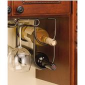 Rev-A-Shelf Double Bottle Wine Rack for Fitting Under Cabinet or Shelf, 2 Bottle Capacity, Oil Rubbed Bronze