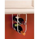 Rev-A-Shelf Double Bottle Wine Rack for Fitting Under Cabinet or Shelf, 2 Bottle Capacity, Satin Nickel