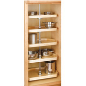 Rev-A-Shelf 5 Tray D-Shaped Wood Kitchen Pantry Set