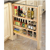 Rev-A-Shelf 3'' Wide Kitchen Base Cabinet Filler with Pull-Out Storage, Min Cab Opening: 3-1/8'' W x 23-1/4'' D x 30-1/8'' H
