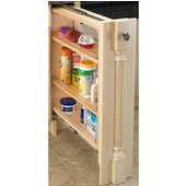 Rev-A-Shelf 6'' Wide Kitchen Base Cabinet Filler with Pull-Out Storage, Min Cab Opening: 6-1/8'' W x 23-1/4'' D x 30-1/8'' H