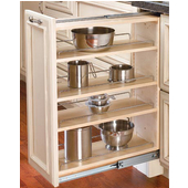 Rev-A-Shelf 9'' Wide Kitchen Base Cabinet Filler with Pull-Out Storage, Min Cab Opening: 9-1/8'' W x 23-1/4'' D x 30-1/8'' H