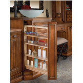 Rev-A-Shelf 6'' Base Cabinet, Desk or Vanity Filler Organizer w/ Polycarbonate Bins, Ball Bearing, 30''H, Min Cab Opening: 6-1/8'' W x 19-1/4'' D x 30-1/8'' H
