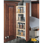Rev-A-Shelf 6'' W Kitchen Wall Cabinet Filler Pull-Out Organizer, 33''H, with or without Soft-Close, Min Cab Opening: 6-1/8'' W x 11-3/8'' D x 33-1/8'' H