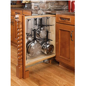 Rev-A-Shelf 6'' W Kitchen, Desk or Vanity Base Cabinet Pullout Filler Organizer w/ Perforated Accessory Hanging Panel, Min Cab Opening: 6-1/8'' W x 23-1/4'' D x 30-1/8'' H