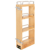 Rev-A-Shelf Kitchen Upper Cabinet Soft Close Pull-Out Organizer w/ 2 Adjustable Shelves, 5''W x 10-3/4''D x 26-1/8''H, with Full-Extension Ball-Bearing Slides, Fits 9'' Face frame Wall Cabinets