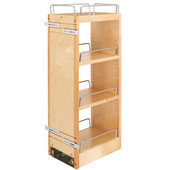 Rev-A-Shelf Kitchen Upper Cabinet Soft Close Pull-Out Organizer w/ 2 Adjustable Shelves, 8''W x 10-3/4''D x 26-1/8''H, with Full-Extension Ball-Bearing Slides, Fits 12'' Face frame Wall Cabinets