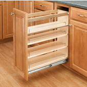 Rev-A-Shelf Wood Pull-Out Organizer for Vanity Base Cabinet, 8'' W x 19'' D  x 25-1/2'' H, Min Cab Opening: 8-1/4'' W x 19-1/4'' D x 25-3/4'' H