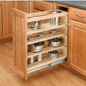 Rev-A-Shelf Wood Pull-Out Organizer for Vanity Base Cabinet, 5'' W x 19'' D x 25-1/2'' H, Min Cab Opening: 5-1/8'' W x 19-1/8'' D x 25-5/8'' H