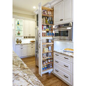Rev-A-Shelf Tall Wood Pull-Out Pantry, 5''W x 58-1/2''H, with 6 Moveable Shelves, Min Cab Opening: 5-1/8''W x 22-1/4''D x 58-1/2''H