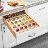 Rev-A-Shelf Cut-To-Size Insert K-Cup Organizer for 18'' Base Cabinet or smaller, 16''W x 19-3/4''D x 2-3/8''H