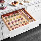 Rev-A-Shelf Cut-To-Size Insert K-Cup Organizer for 24'' Base Cabinet or smaller, 22''W x 19-3/4''D x 2-3/8''H